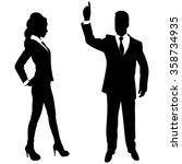 businessman gesturing with... | Shutterstock .eps vector #358734935
