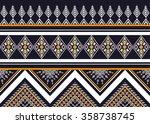 geometric ethnic pattern... | Shutterstock .eps vector #358738745