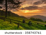 the sunrise from the  mountain. | Shutterstock . vector #358743761