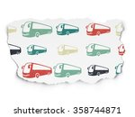 vacation concept  bus icons on... | Shutterstock . vector #358744871