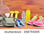 sports bag with sports... | Shutterstock . vector #358754345