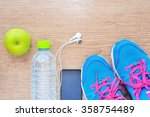 sport shoes and water with set... | Shutterstock . vector #358754489