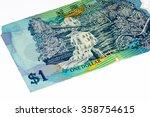 1 dollar bank note of brunei. | Shutterstock . vector #358754615