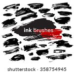 detail ink brush paint stroke....   Shutterstock .eps vector #358754945