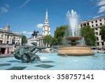 Fountain At Trafalgar Square ...