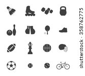 sport icon set  | Shutterstock .eps vector #358762775