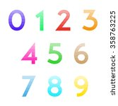 set of numbers from zero to... | Shutterstock .eps vector #358763225