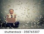 senior business man using a... | Shutterstock . vector #358765307