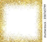 gold sparkles on white... | Shutterstock .eps vector #358765799