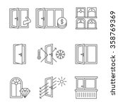 Windows Icon Set With Door And...