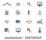 data analytic simply icons for... | Shutterstock .eps vector #358769429
