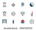 chinese new year simply icons... | Shutterstock .eps vector #358769555