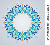 round pattern colorful mosaic... | Shutterstock .eps vector #358781015