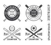 Vintage Baseball Logos  Emblem...
