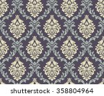 vector seamless damask pattern. ...   Shutterstock .eps vector #358804964