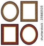 oval and rectangular gold... | Shutterstock . vector #35880535