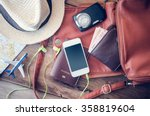 travel accessories costumes.... | Shutterstock . vector #358819604