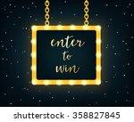 enter to win. golden sign on... | Shutterstock .eps vector #358827845