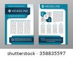 business brochure flyer design... | Shutterstock .eps vector #358835597