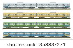 diesel railcar train   | Shutterstock .eps vector #358837271
