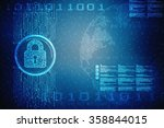safety concept  closed padlock... | Shutterstock . vector #358844015