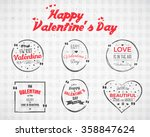 valentine day watercolor  ink ... | Shutterstock .eps vector #358847624
