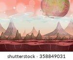 fantasy sci fi alien landscape... | Shutterstock .eps vector #358849031