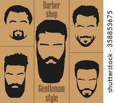 set  men's hair with a beard.... | Shutterstock .eps vector #358853675