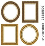 oval and rectangular gold... | Shutterstock . vector #35885503