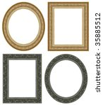 oval and rectangular gold... | Shutterstock . vector #35885512