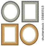 oval and rectangular gold... | Shutterstock . vector #35885515