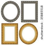oval and rectangular gold... | Shutterstock . vector #35885518