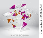 abstract polygonal background.... | Shutterstock .eps vector #358856645