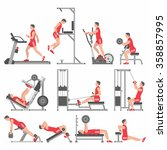 boys in the gym | Shutterstock .eps vector #358857995