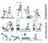 girls in the gym | Shutterstock .eps vector #358858499