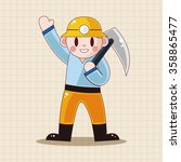 worker theme elements  | Shutterstock .eps vector #358865477