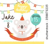 design of birthday party... | Shutterstock .eps vector #358873235