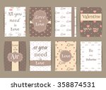 set of greeting card for... | Shutterstock .eps vector #358874531