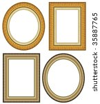 oval and rectangular gold... | Shutterstock . vector #35887765