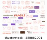 postage meters  rubber stamps  ... | Shutterstock . vector #358882001