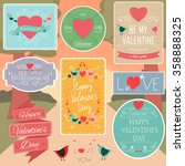 valentines day decorations... | Shutterstock .eps vector #358888325