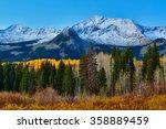 the snow capped colorado...   Shutterstock . vector #358889459