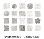 collection of hand drawn... | Shutterstock .eps vector #358894331