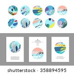 vector art of label design.... | Shutterstock .eps vector #358894595