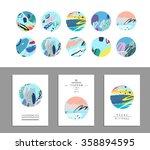 vector art of label design.... | Shutterstock .eps vector #358894595