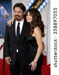"""Small photo of Diane Lane and Josh Brolin at the Los Angeles Premiere of """"Secretariat"""" held at the El Capitan Theater in Hollywood, California, United States on September 30, 2010."""