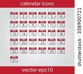 calendar icon  vector eps10... | Shutterstock .eps vector #358900721