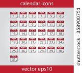 calendar icon  vector eps10... | Shutterstock .eps vector #358900751