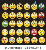 vector set of 30 yellow... | Shutterstock .eps vector #358901945