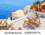 lounge chairs with a view of... | Shutterstock . vector #358905974